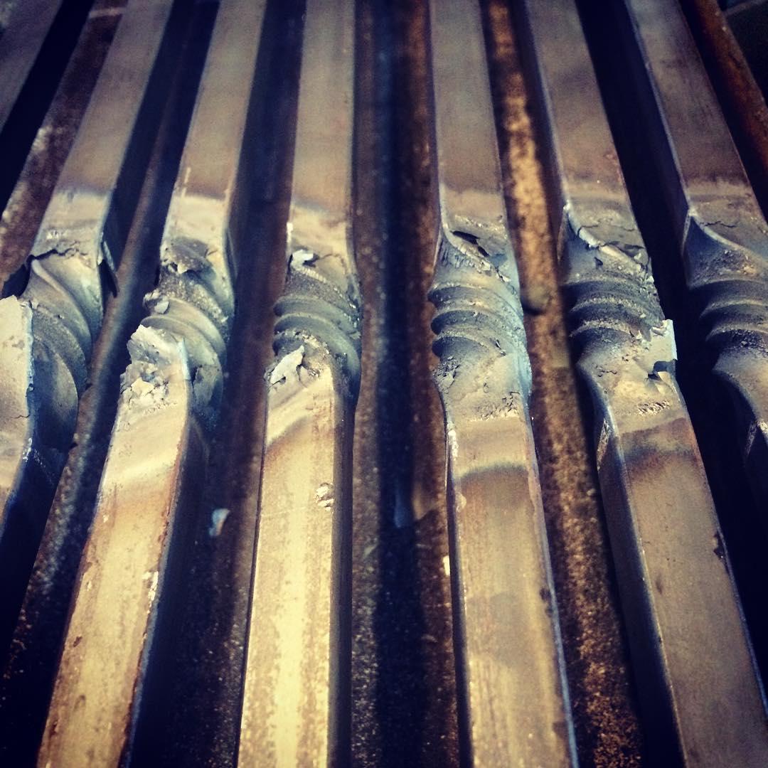 An unexpected twist. #blacksmith #forged #winnipeg #madeincanada