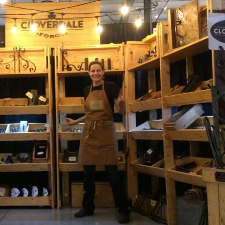 All set up for @thescatteredseeds market throughout the weekend. #blacksmith #winnipeg #madeinmanitoba #madeincanada @ruderock