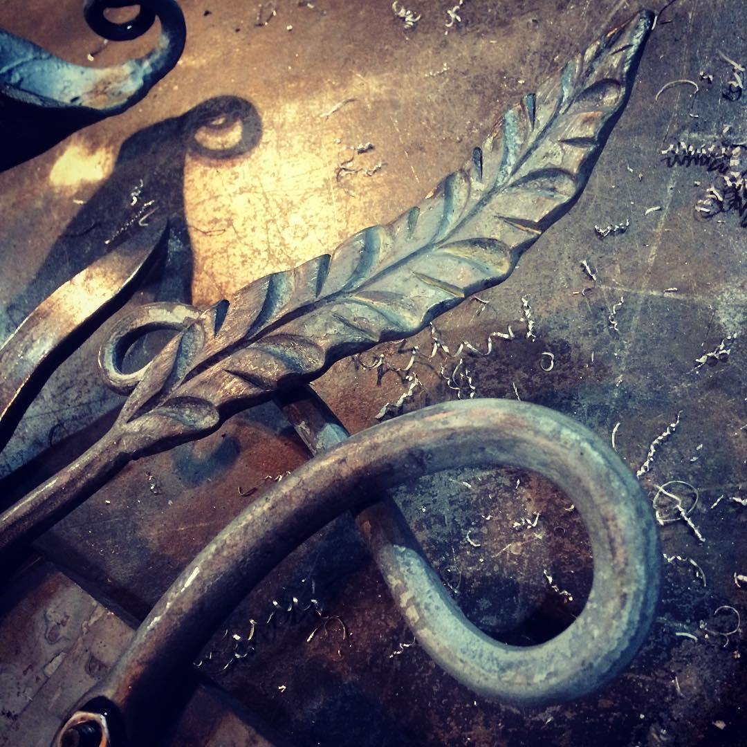 Railing element.  #blacksmith #forged #handmade #housejewelry