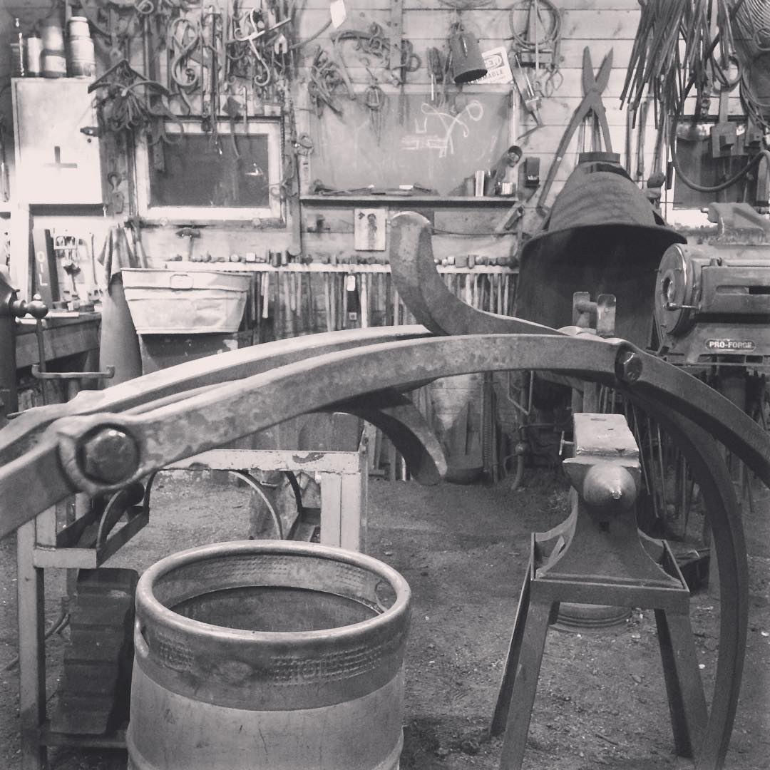 Pretty happy with this little detail. Rivets to follow.  #blacksmith #logholder #forged #madeincanada