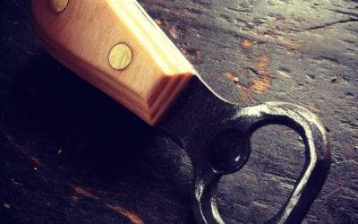 Bottle opener with Baltic birch plywood handle.
