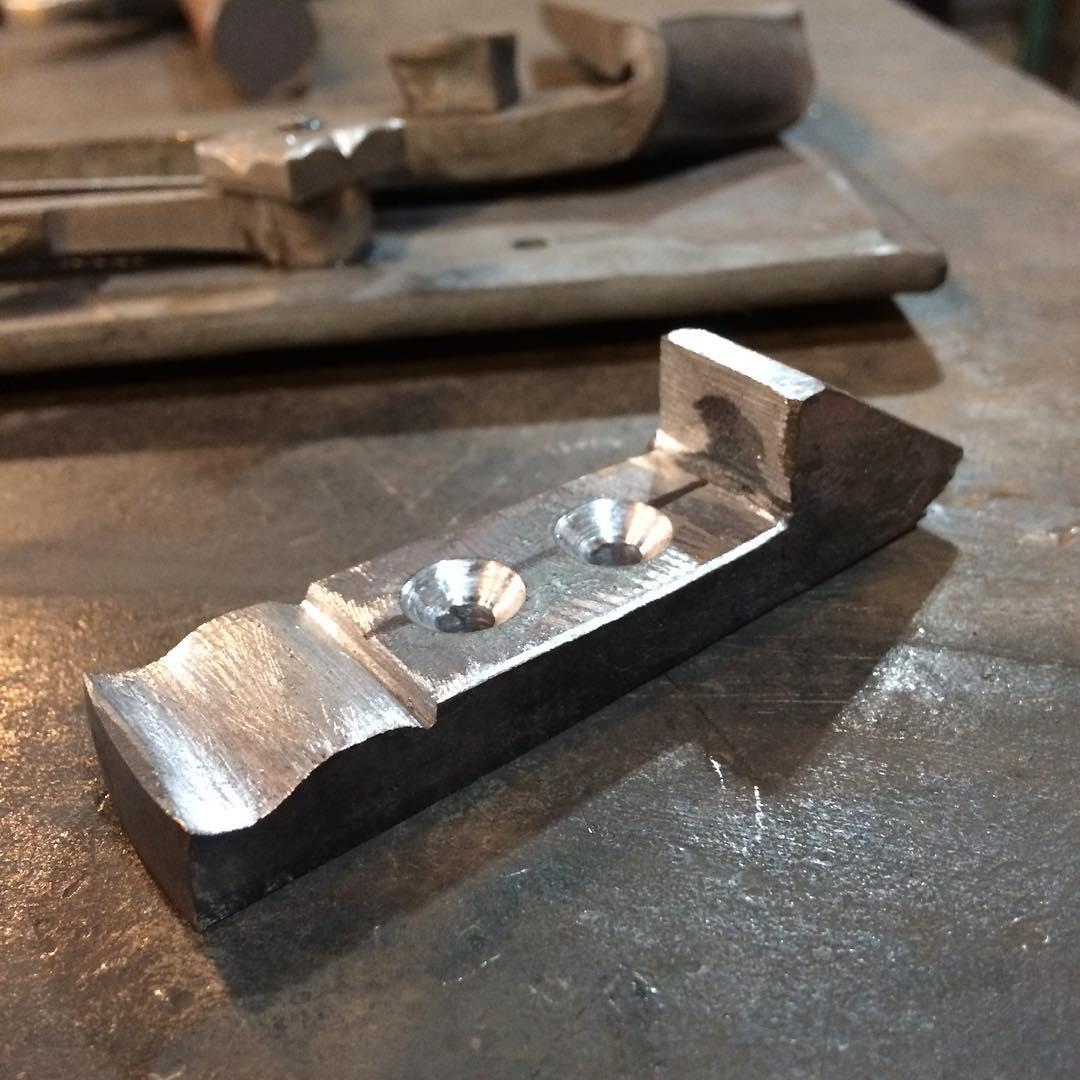 Door latch details. #blacksmith #forged #madeincanada #customiron