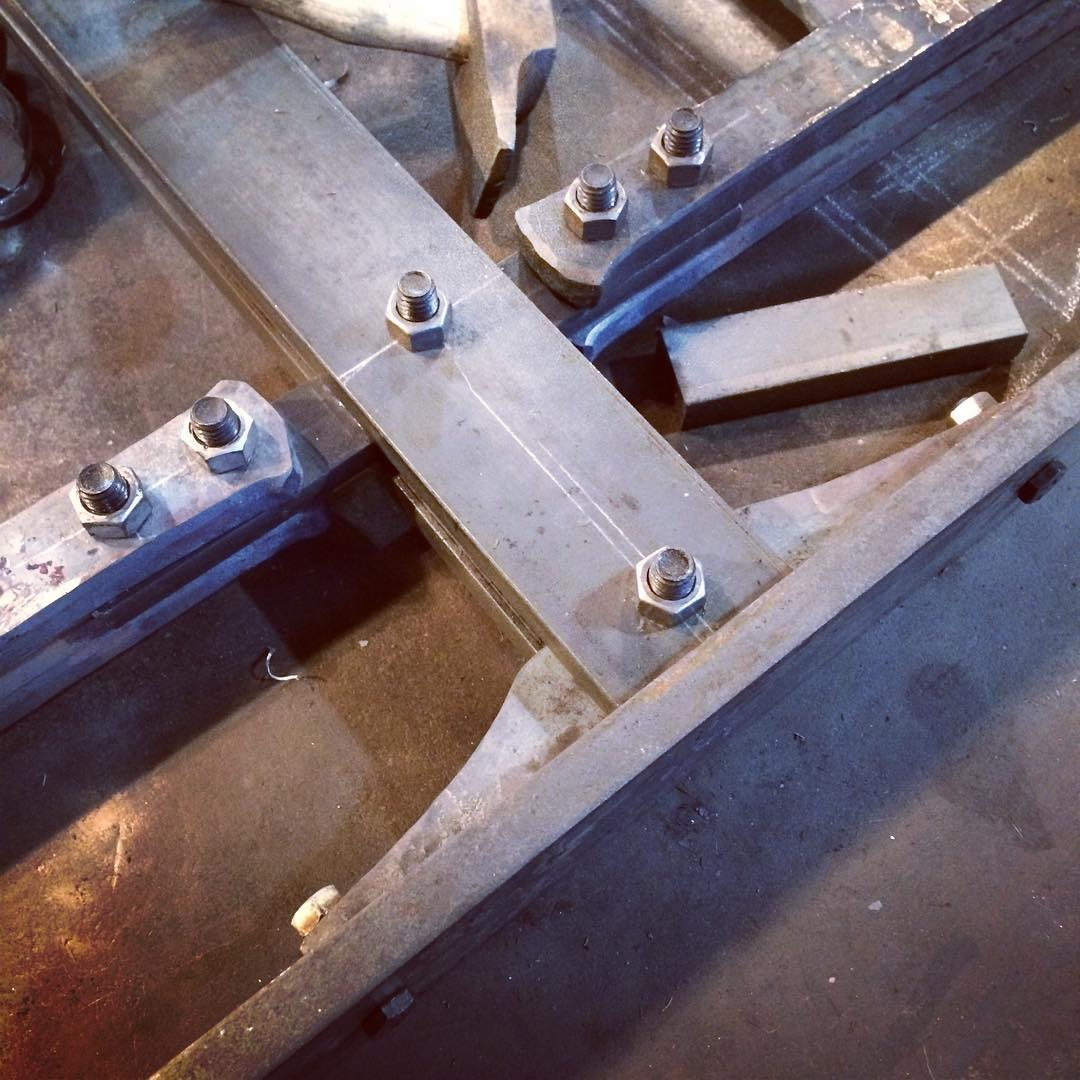 Working out the joinery. #blacksmith #removablerivets #madeincanada