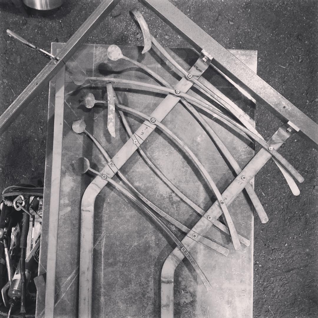 Assembly. #railing #blacksmith #forged #slowbutsteady