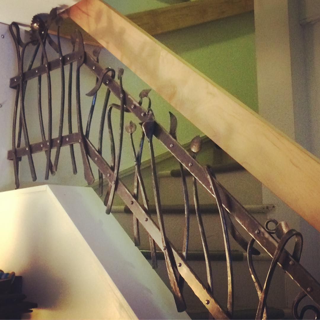 Railing installed. #blacksmith #housejewelry #forged #madeincanada #winnipeg