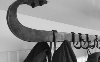 A coat rack installed in the client's house. #blacksmith #housejewelry #madeincanada #winnipeg #winterfashion