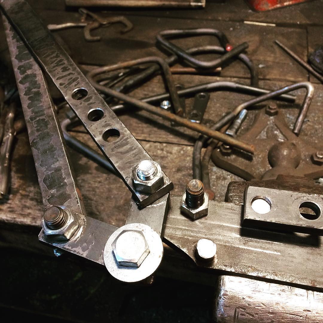 Friday seems like a good day to work on a bender…. 🍻#blacksmith  #madeincanada #bender #tools