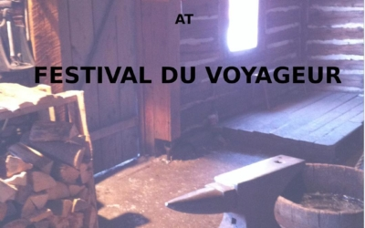 Visitors wanted. I'll be at @fdvoyageur this next week.  Come on out and say hello! … or #heho #fdvoyageur #winnipeg #blacksmith #notmyanvil #havehammerwilltravel
