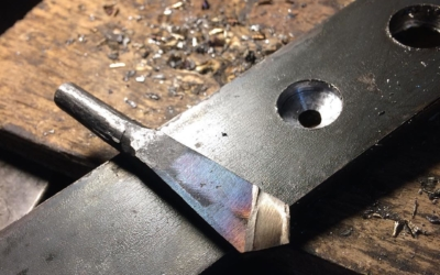 Quick test bit.  Hoping to make a brace and bit @fdvoyageur this year. Here is the test drill bit to figure out cutting geometry. Seems to work!! #drill #forged #blacksmith #heho
